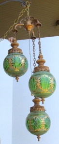 Ornate Green Swag Glass lamp